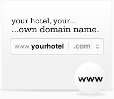 Your hotel. Your domain name.