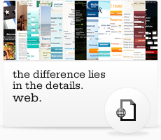 Web. The difference lies in the details.