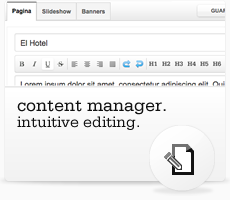 Content Manager. Intuitive editing