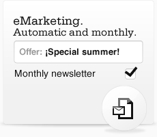 eMarketing. Automatic and monthly.