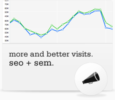 SEO+SEM. More and better visits.