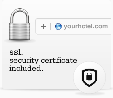 SSL. Security certificate included.